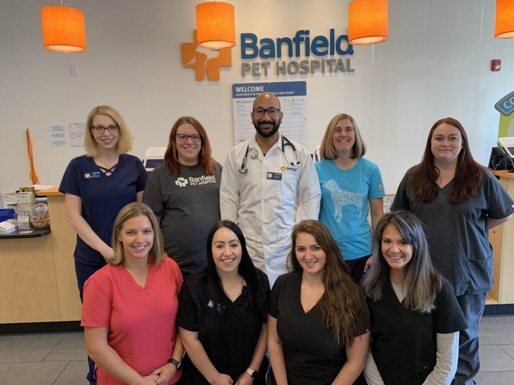 Banfield Pet Hospital team picture in Caste Village